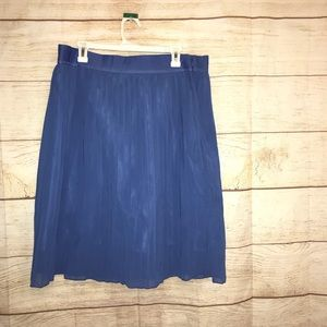 Adidas women's XL pleated NWTS blue skirt